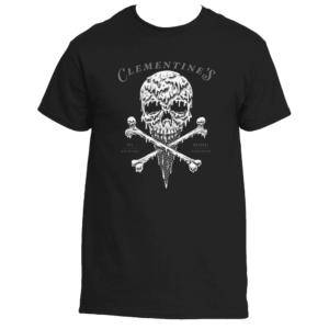 clementine's black skull t-shirt