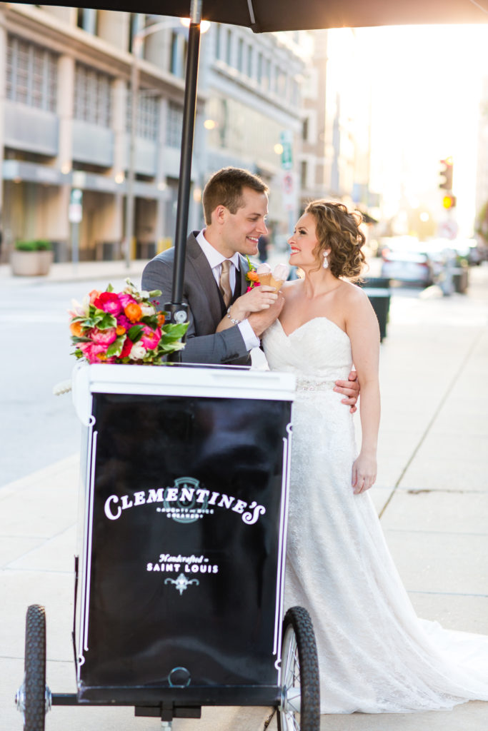 wedding feature for clementine's creamery
