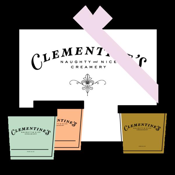 gift pack of clementine's ice cream