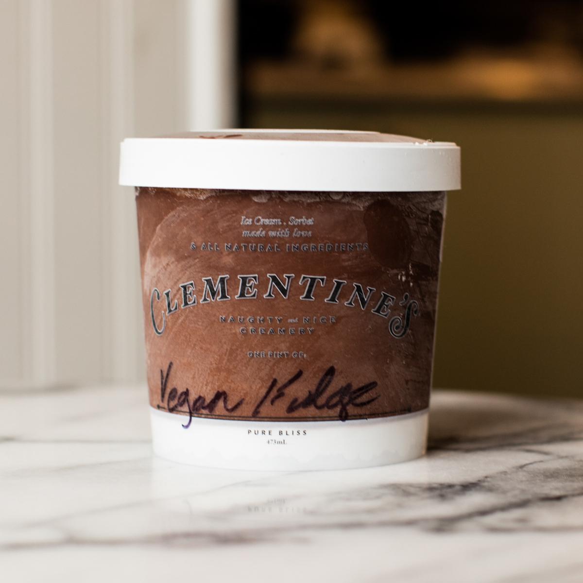 clementines vegan ice cream chocolate coconut fudge
