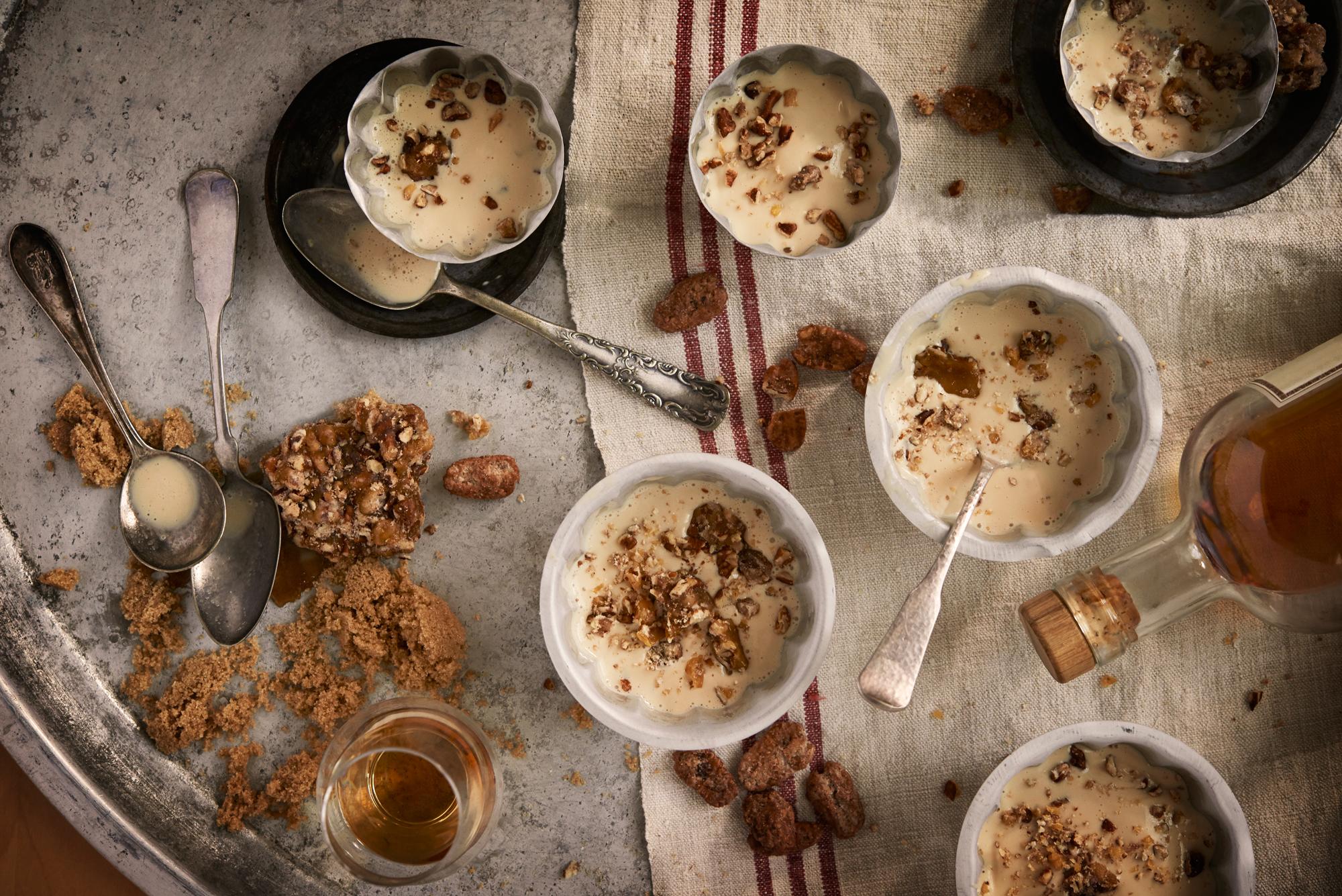 maple bourbon ice cream on table