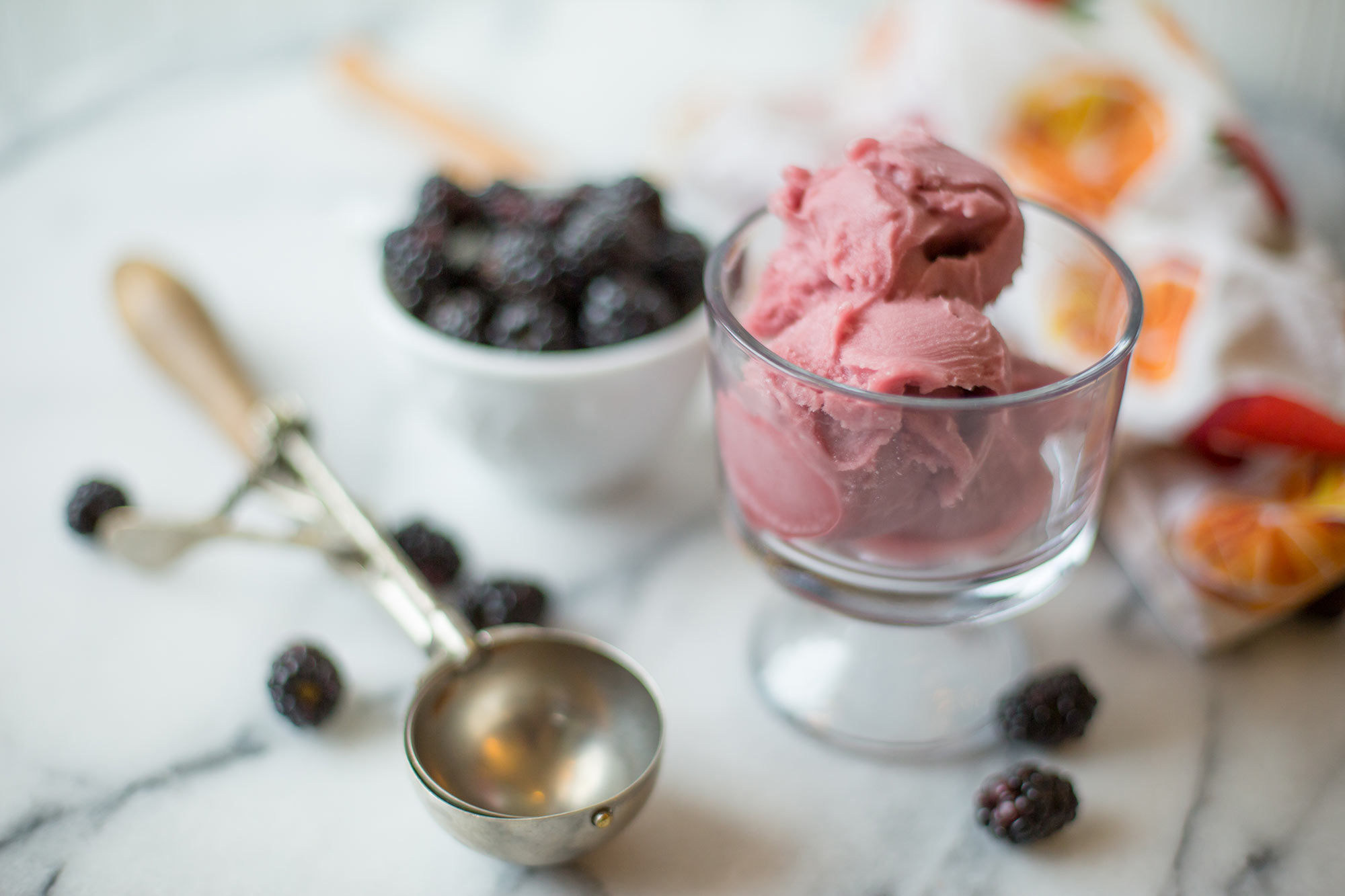 northwest berry sorbet and ice cream scoop