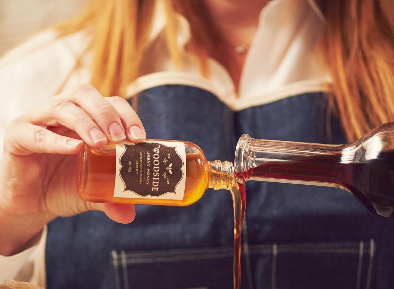 tamara mixing honey and balsamic