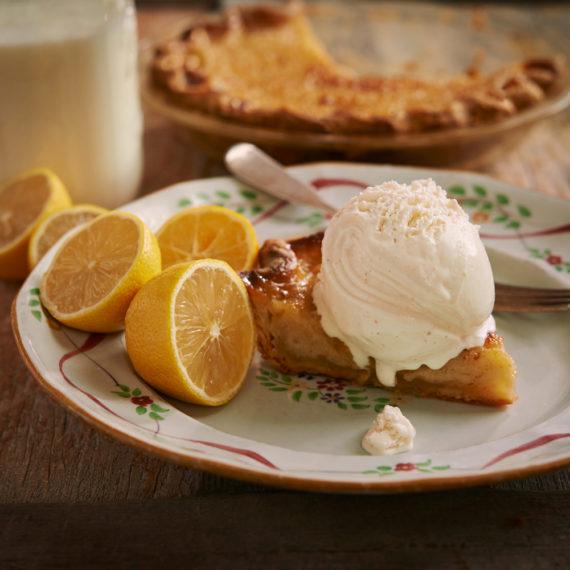 Lemon Buttermilk Chess Pie