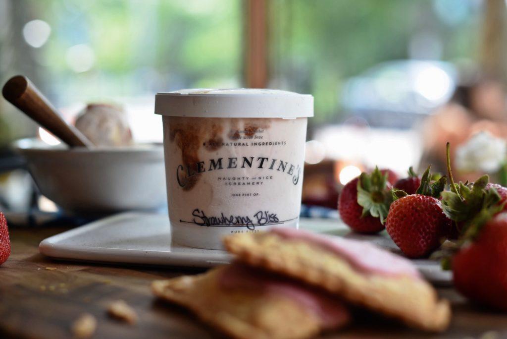 Clementine's Strawberry Bliss Ice Cream