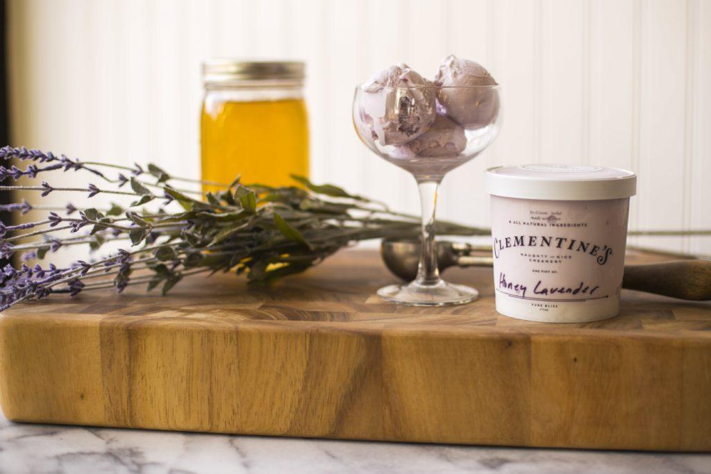 Clementine's Honey Lavender Ice Cream