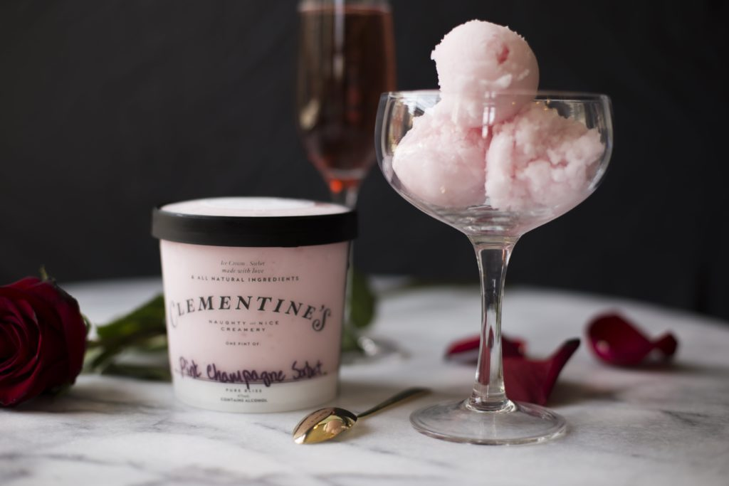 Clementine's Pink Champagne Ice Cream