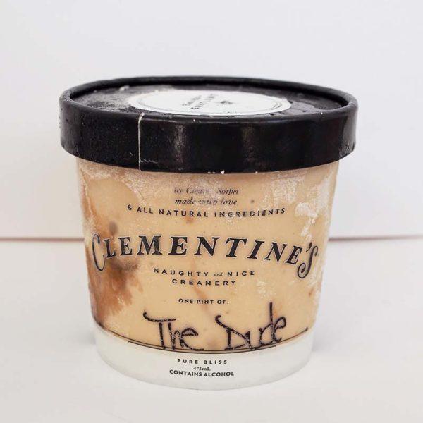 The Dude ice cream pint